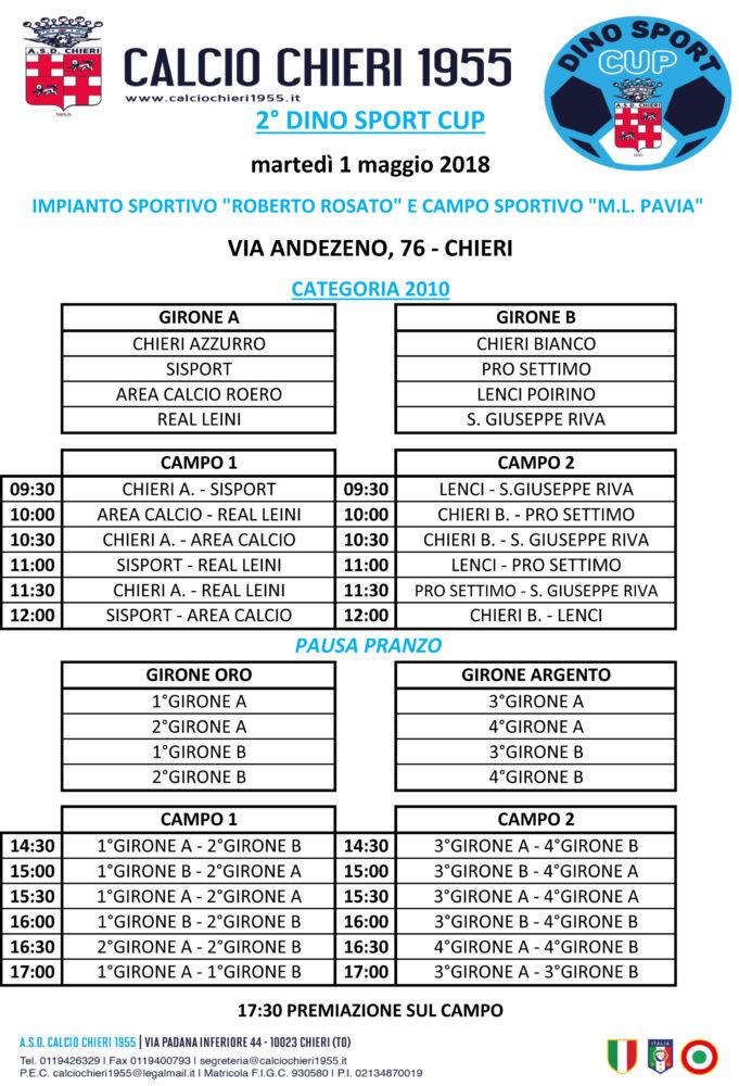Calendario Dino Sport Cup 2010