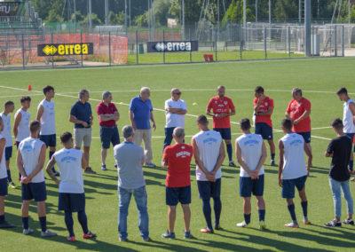 Primo allenamento degli Azzurri