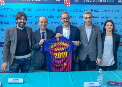 Presentata la tappa Chierese del Barça Academy Camp Italia