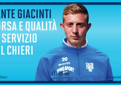 Corsa e qualità al servizio della squadra: Sante Giacinti è un giocatore del Chieri