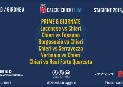 Calendario Serie D: esordio al Porta Elisa contro la Lucchese