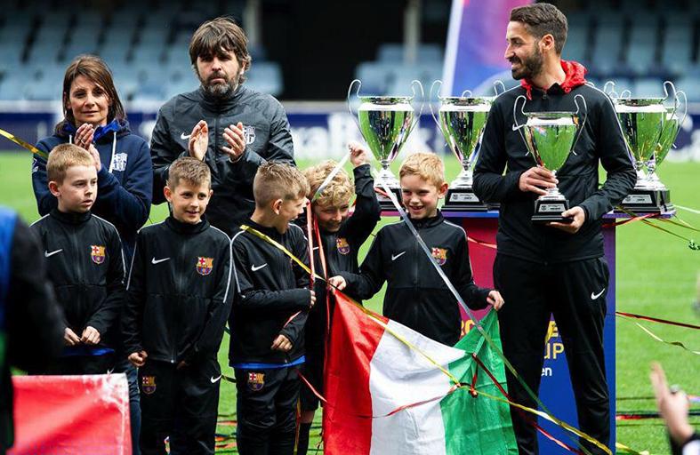 Scuola Calcio: il nostro Francesco Marcarini al Camp Nou con il Barcellona