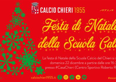 Domenica 22/12 al Rosato la festa di Natale della Scuola Calcio