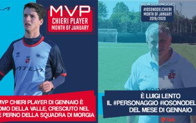 """""""MVP"""" e """"Personaggio del mese"""" se li aggiudicano Jack Della Valle e Gigi Lento"""