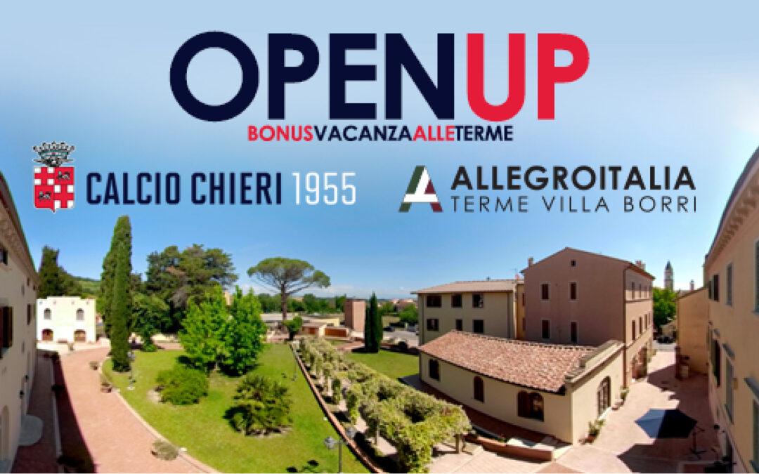 """""""OpenUp, bonus vacanza alle terme"""" con AllegroItalia Terme Villa Borri"""